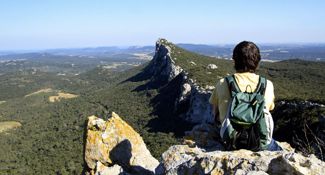 Randonnée sur le Pic Saint-Loup - Hérault, le Languedoc © JM. Lallemand